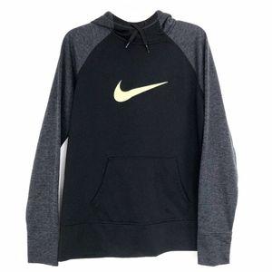 Nike | Therma Fit Hoodie Black Grey Lime Green